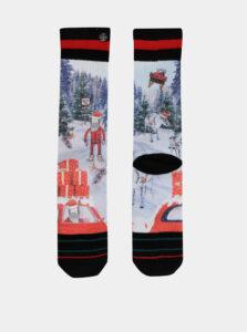 Červeno-modré pánske ponožky s vianočným motívom XPOOOS