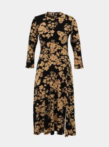 Béžovo-čierne kvetované šaty M&Co