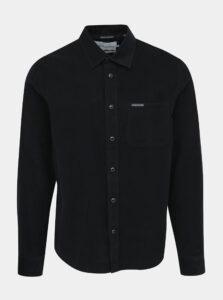 Čierna pánska menčestrová regular fit košeľa Calvin Klein Jeans