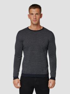 Tmavomodrý pánsky pruhovaný sveter Tom Tailor