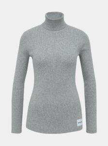 Šedý rolák s prímesou vlny Calvin Klein Jeans