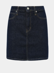 Tmavomodrá rifľová sukňa Calvin Klein Jeans