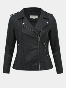 Čierna koženková bunda My True Me Tom Tailor