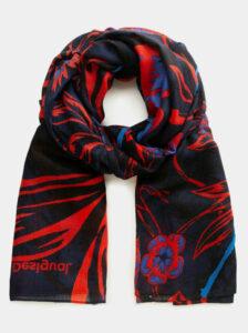 Červeno-modrá kvetovaný šatka Desigual