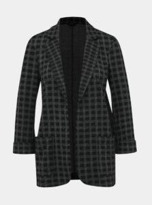 Čierne kockované sako M&Co