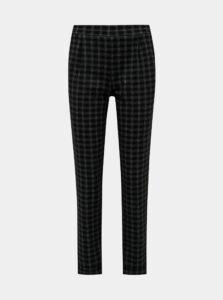 Čierne kockované nohavice M&Co