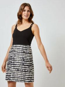 Čierno-šedé vzorované šaty na ramienka Dorothy Perkins