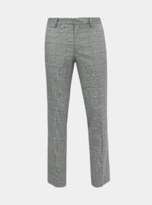Šedé kockované oblekové nohavice Selected Homme Emil