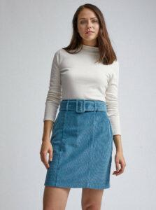 Modrá menčestrová púzdrová sukňa Dorothy Perkins
