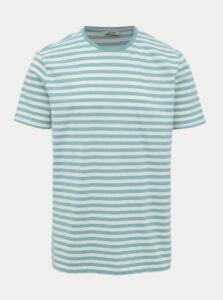 Bielo-zelené pruhované basic tričko ONLY & SONS Jamie