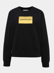 Čierna dámska mikina Calvin Klein Jeans Instit