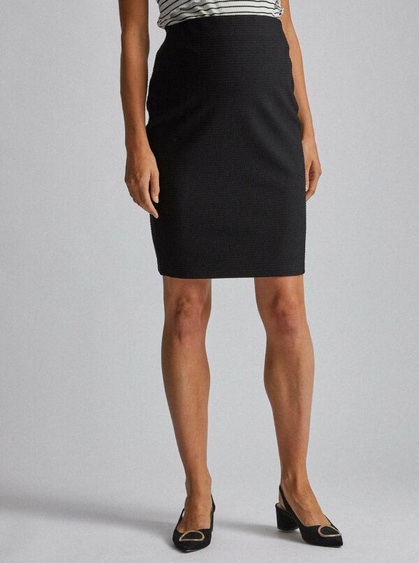 Čierna tehotenská vzorovaná sukňa Dorothy Perkins Maternity