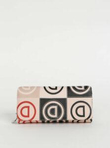 Svetloružová vzorovaná peňaženka Desigual