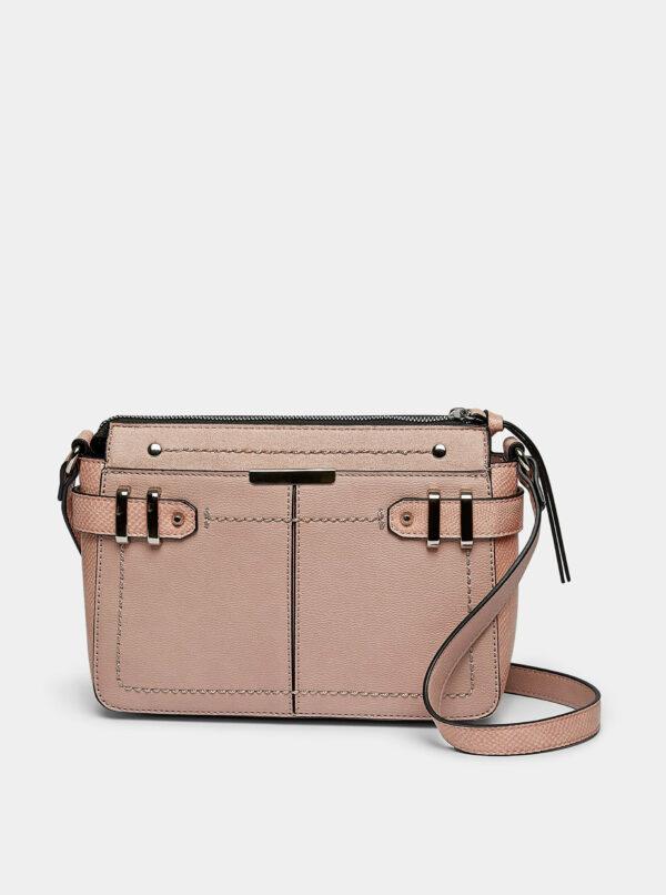 Rúžová crossbody kabelka s detailmi s hadím vzorom Dorothy Perkins