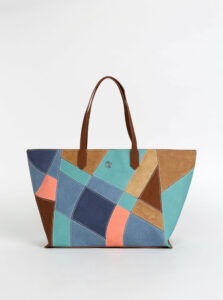 Modro-hnedá kabelka Desigual