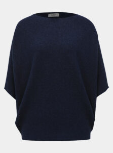 Tmavomodrý sveter s netopierými rukávmi Jacqueline de Yong New Behave