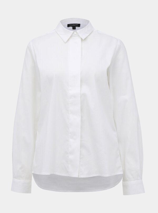 Biela košeľa Selected Femme Fagnes