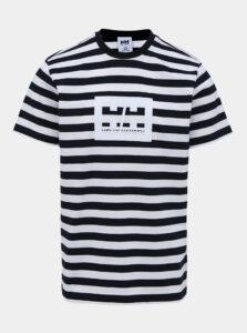 Bielo-modré pruhované tričko s potlačou HELLY HANSEN Tokyo