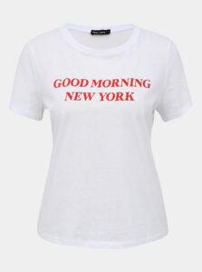 Biele tričko s potlačou TALLY WEiJL Teka