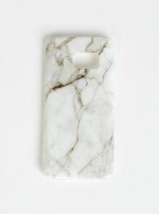 Biely vzorovaný obal na Samsung Galaxy S7 Haily´s Marbel