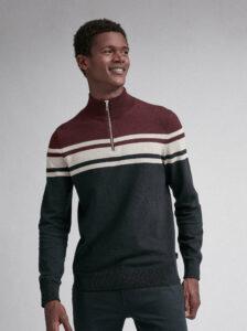 Hnedo-modrý sveter Burton Menswear London