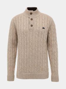 Béžový vlnený sveter Raging Bull
