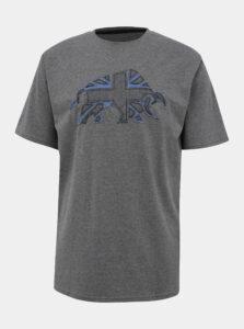 Šedé tričko s nášivkou Raging Bull