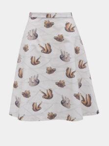 Šedá sukňa s motívom leňochoda annanemone