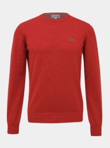 Červený pánsky basic sveter Lacoste
