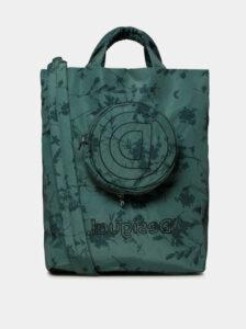 Zelená kvetovaná taška s odnímateľným púzdrom 2v1 Desigual