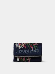 Tmavomodrá kvetovaná peňaženka Desigual