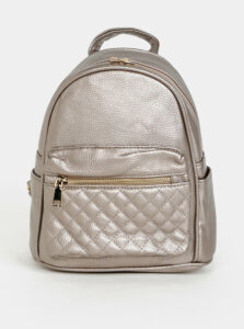 Béžový dámsky batoh s metalickými odleskami Haily´s Celine