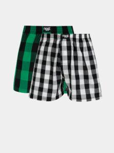 Sada dvou pánských kostkovaných trenýrek v šedé a zelené barvě NUGGET Abel
