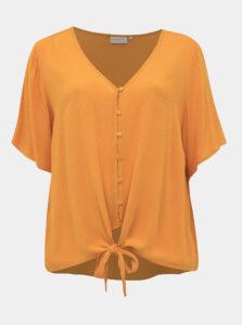 Oranžová blúzka ONLY CARMAKOMA Savannah