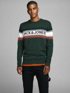Tmavozelený sveter Jack & Jones Peak
