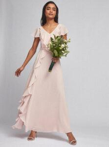 Svetloružové maxi šaty Dorothy Perkins Petite
