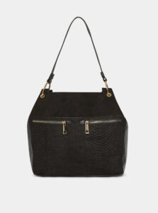 Čierna kabelka v semišovej úprave s hadím vzorom Dorothy Perkins