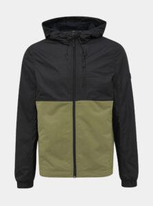 Zeleno-čierna pánska bunda Tom Tailor Denim