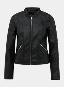 Čierna koženková bunda VERO MODA Khloe
