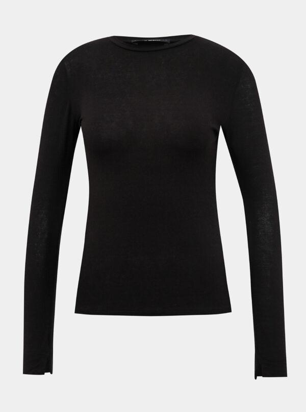 Čierne basic tričko TALLY WEiJL Dove