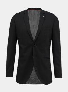 Čierne oblekové slim fit sako Jack & Jones Vincent