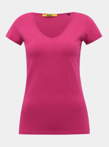 Tmavoružové dámske basic tričko ZOOT Baseline Lia