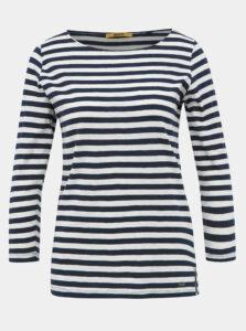 Bielo-modré dámske pruhované basic tričko ZOOT Baseline Atina