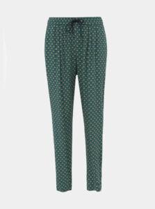 Zelené dámske vzorované nohavice ZOOT Baseline Evelina