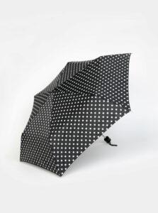Čierny bodkovaný daždnik M&Co