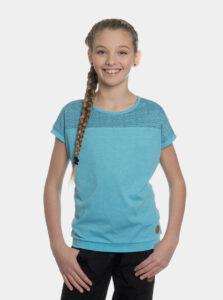 Modré dievčenské vzorované tričko SAM 73