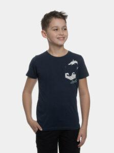Tmavomodréchlapčenské tričko s vreckom SAM 73