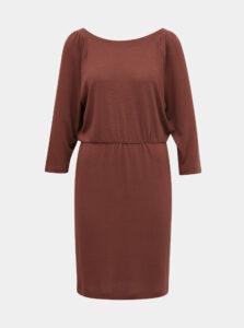 Tehlové svetrové šaty Noisy May Halley