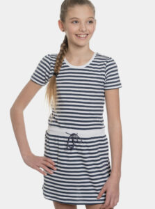 Bielo-modré dievčenské pruhované šaty SAM 73