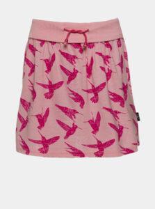 Rúžová dievčenská vzorovaná sukňa SAM 73